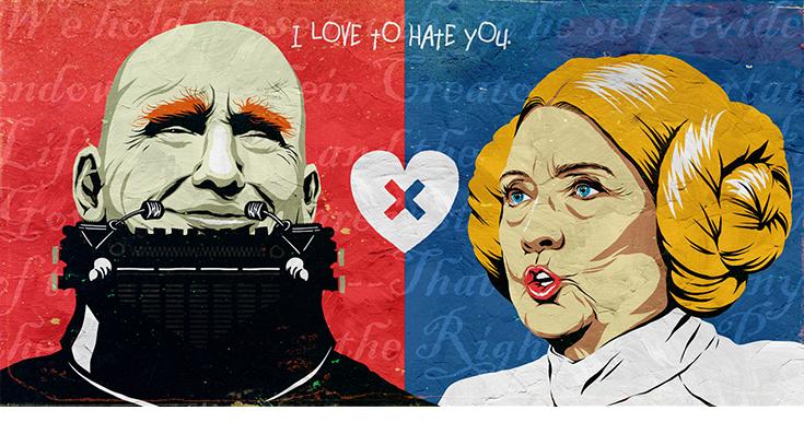 Клинтон Трамп I Love To Hate You
