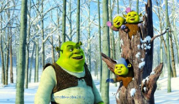 Шрек мороз зелёный нос