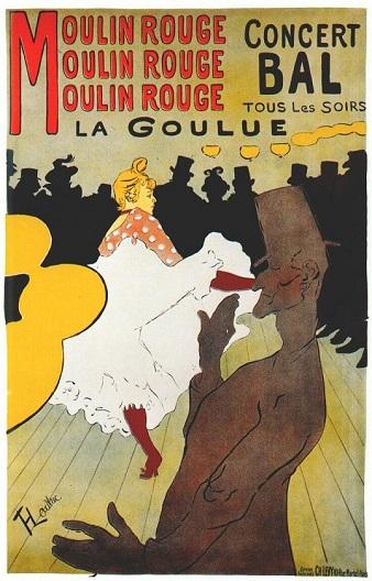 плакаты для Мулен Руж писал Анри де Тулуз-Лотрек